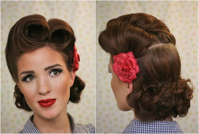 The Freckled Fox Modern Pin Up Week 2 Pin Up Victory Rolls