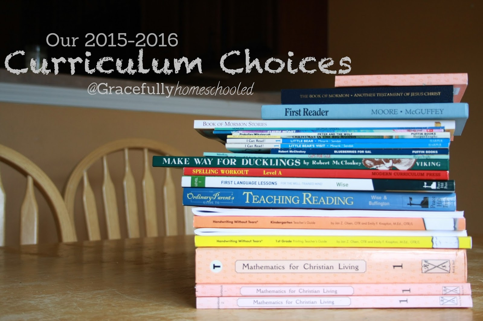Gracefully Homeschooled: Our Curriculum