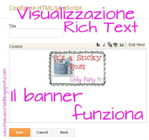 visualizzazione in rich text