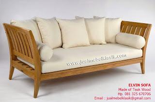 Supplier Indonesia Solid Teak Wood Supplier Jepara Mebel solid Jati Sofa Minimalist Jati