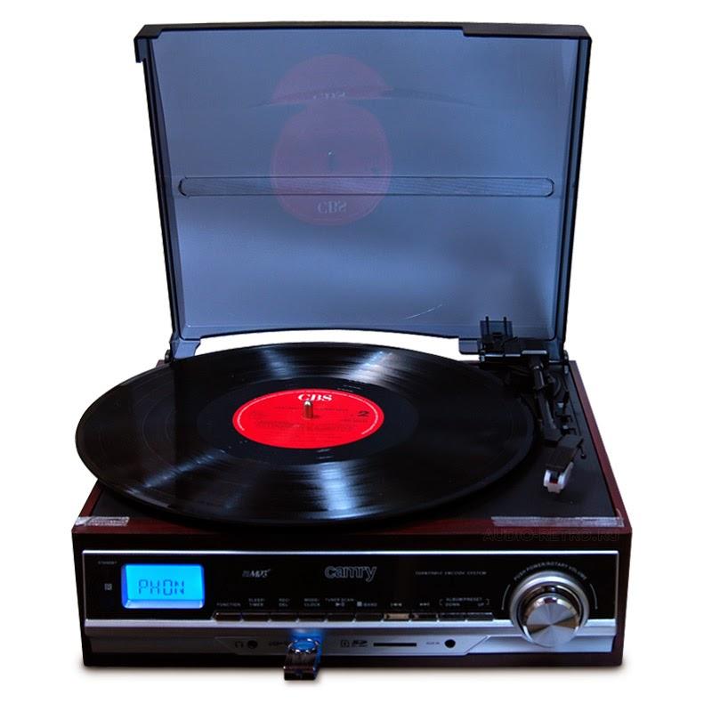 Проигрыватель винила с usb, sd, mp3, радио и записью Camry CR1114 универсальный современный проигрыватель пластинок с большим функционалом