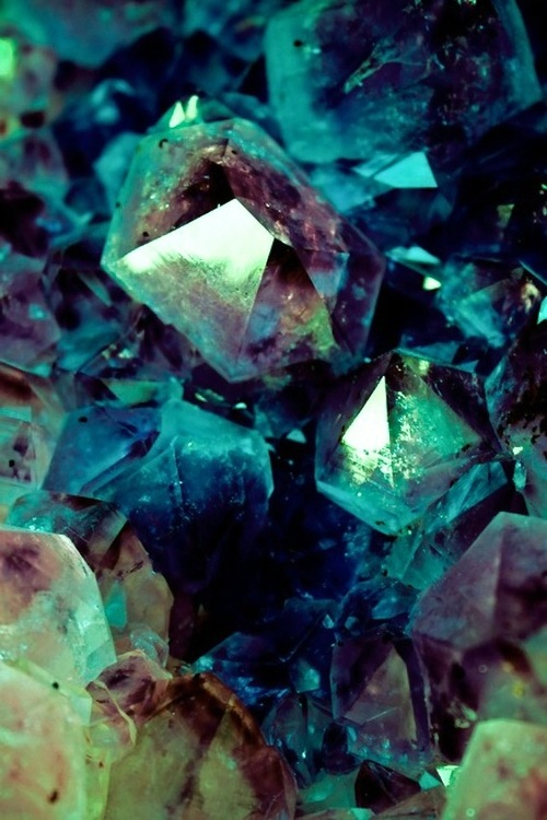 magical blue crystals