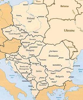 Eastern Europe Regions Map