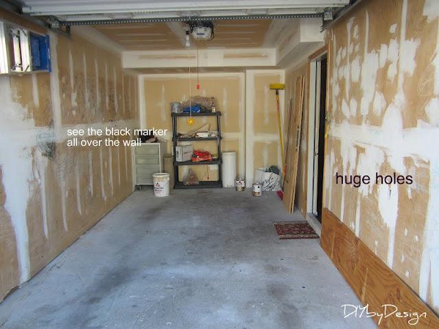 Diy by design garage makeover for One car garage storage
