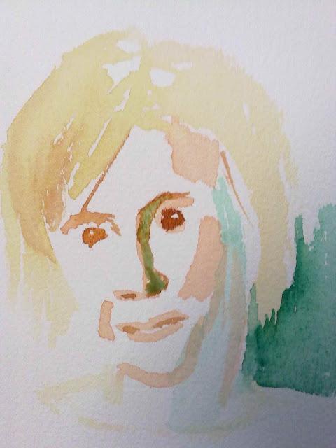 retrato con mancha directa, inicio