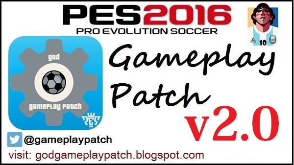 PES 2016 God Gameplay Patch v2.0 + Kitserver [All In One] by Maradona10