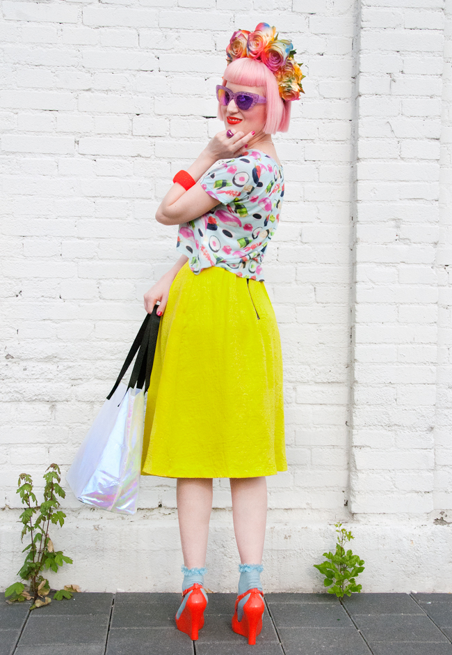 kawaii look, blogger street style, quirky outfit