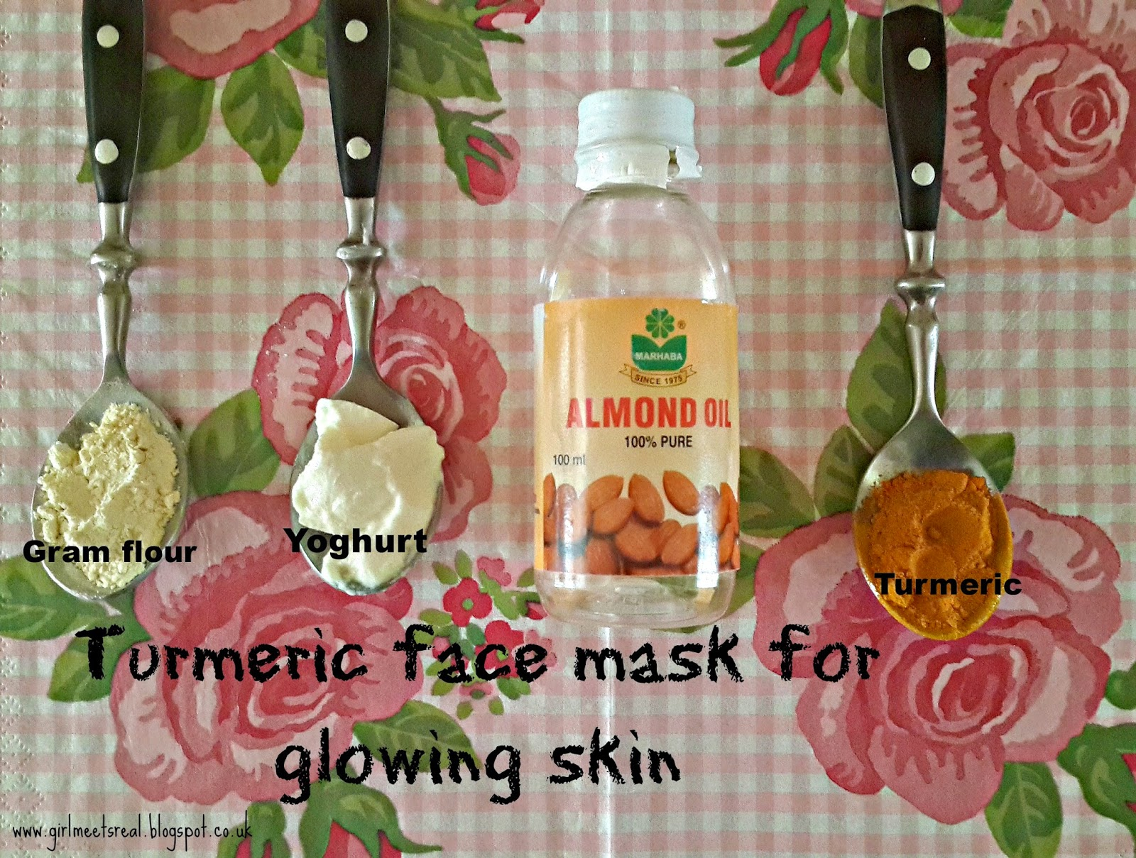 DIY face mask using Turmeric