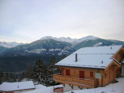 Swiss Alps resort view