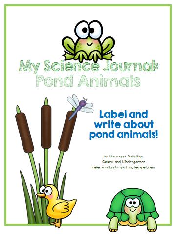 http://www.teacherspayteachers.com/Product/My-Science-Journal-Pond-Animals-1271425