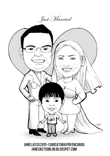 Caricatura para matrimonio