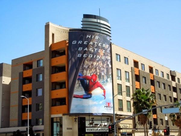 Amazing Spider-man 2 movie billboard