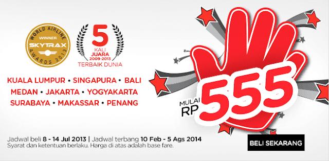Promo Air Asia Terbaru ke Berbagai Tujuan Mulai Rp555,- Jadwal Beli 8 – 14 Juli 2013