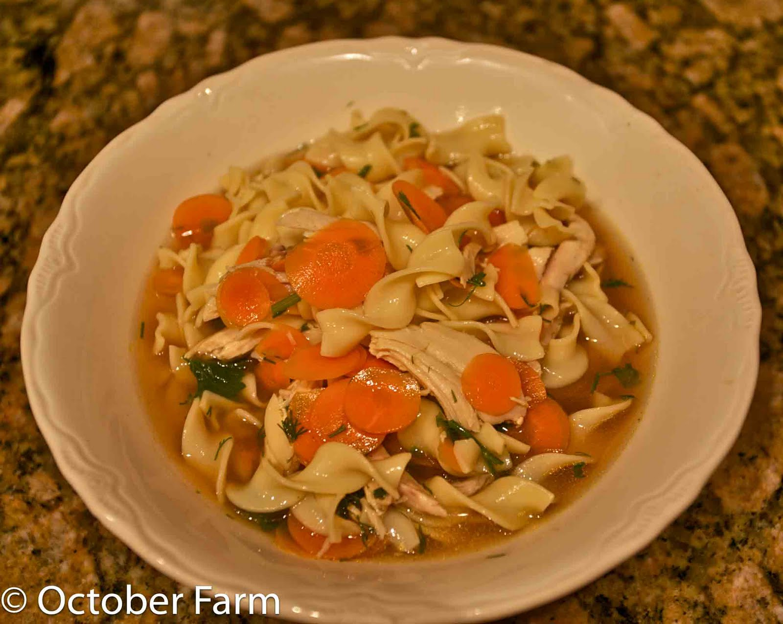 Octoberfarm: The Best Chicken Noodle Soup You Will Ever Eat