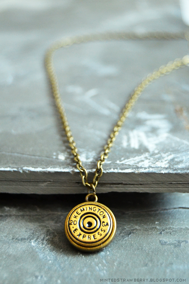diy button pendant necklace minted strawberry