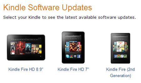 how to update the kindle fire
