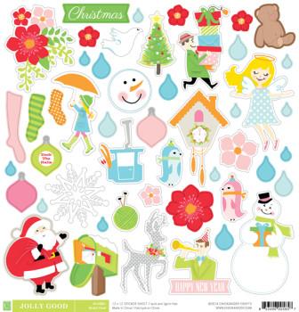 Jolly good sticker sheet