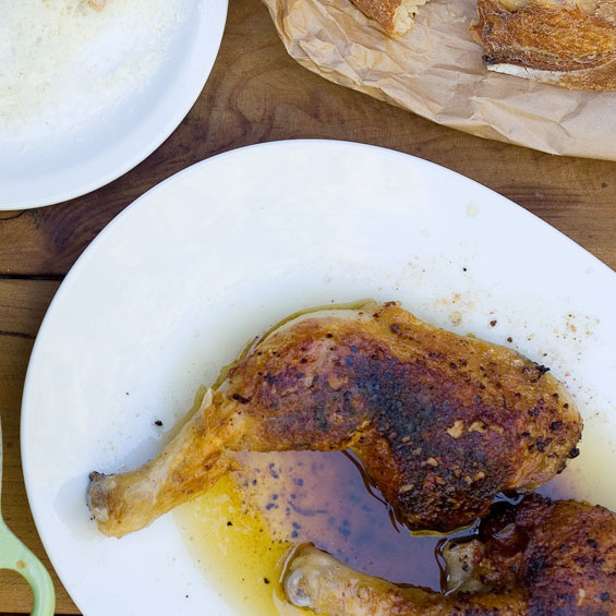 Brick-Grilled Chicken Thighs Recipe — Dishmaps