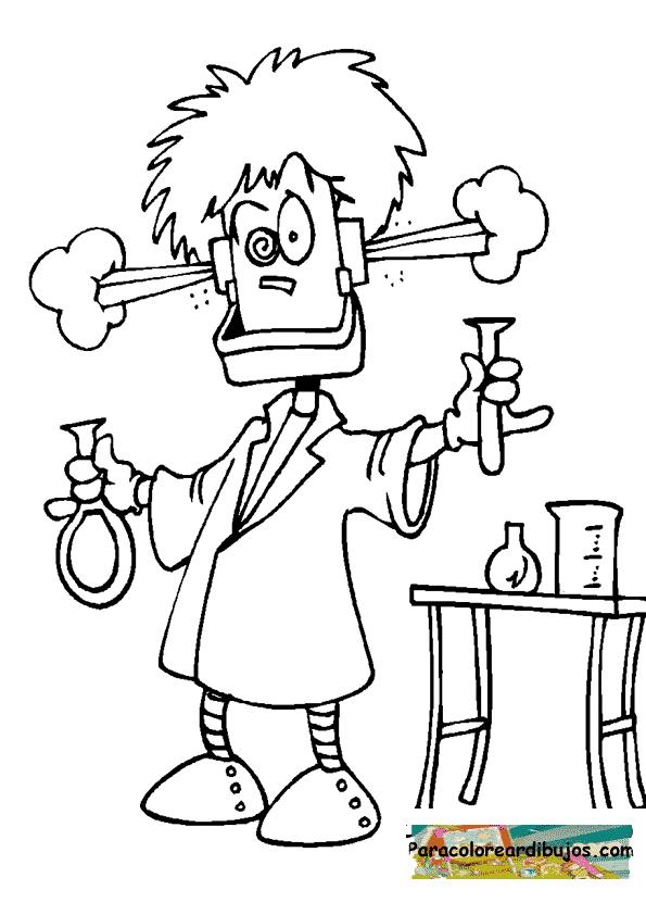 Dibujo de cientifico loco para colorear