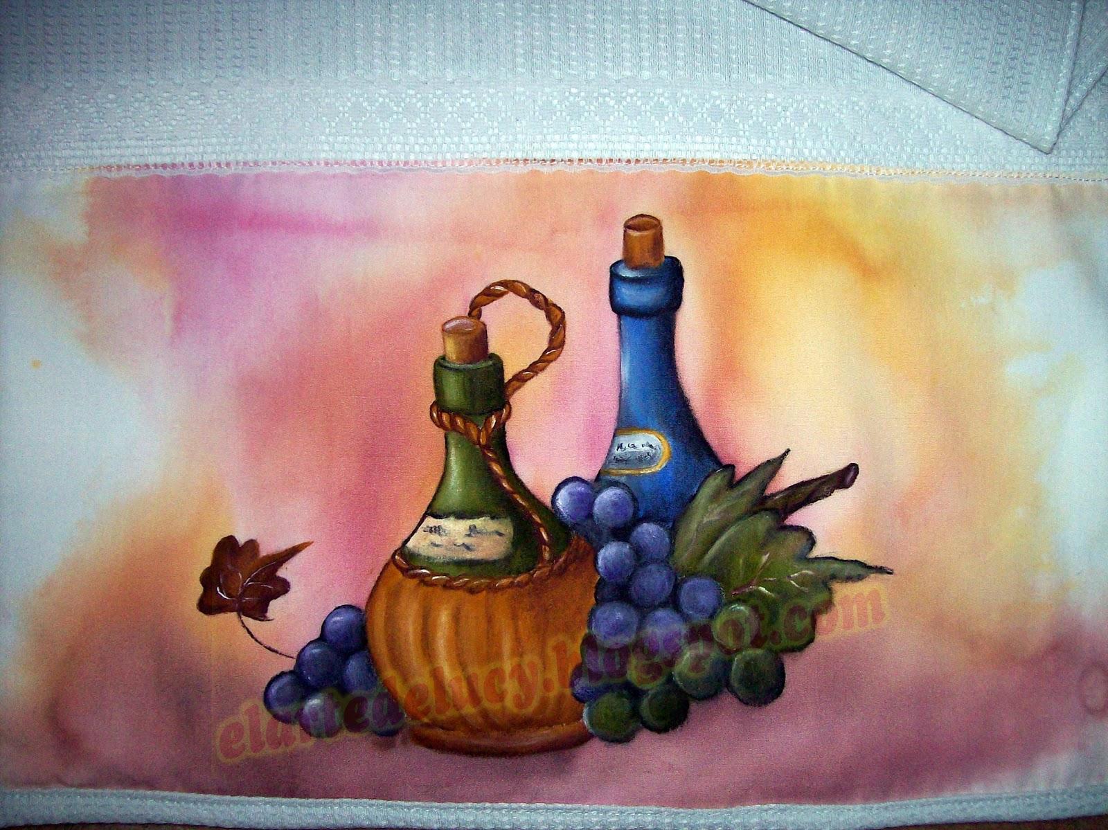 El arte de lucy arte para tu cocina - Dibujos para pintar en tela infantiles ...