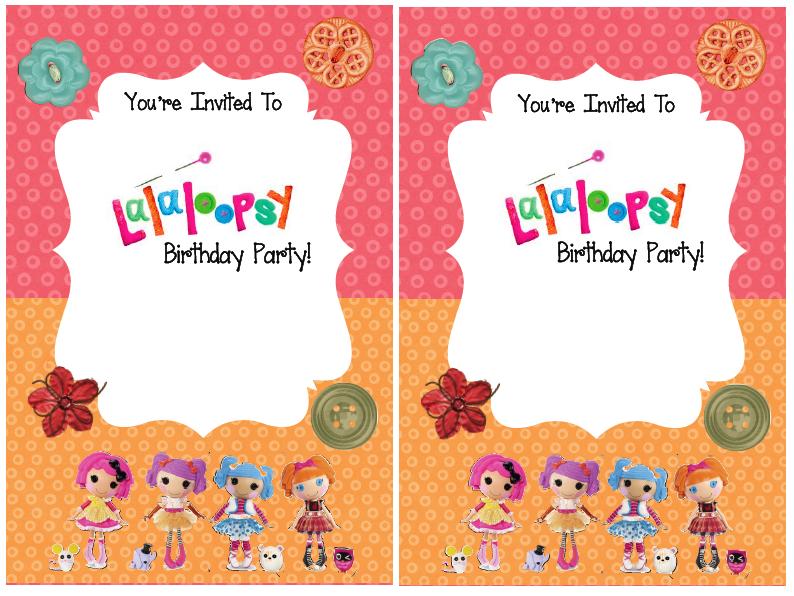 Lalaloopsy Printable Party Invitations