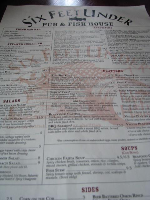Restaurant Review Six Feet Under
