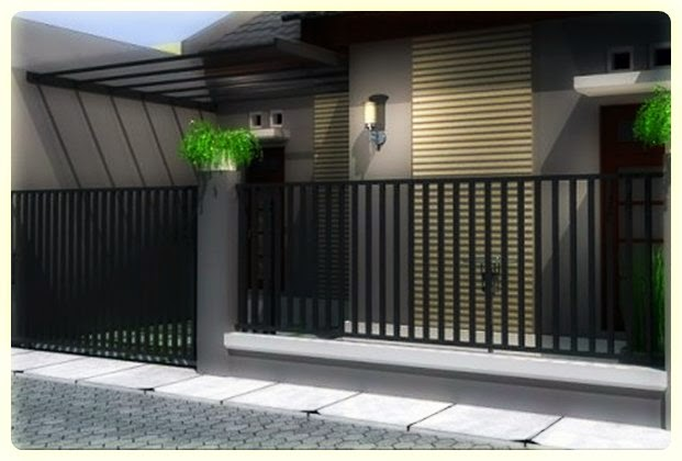 Desain Pagar Rumah Minimalis Modern Elegan dan Eksklusif