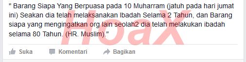 Hadits Palsu Beredar di Facebook BBM WA