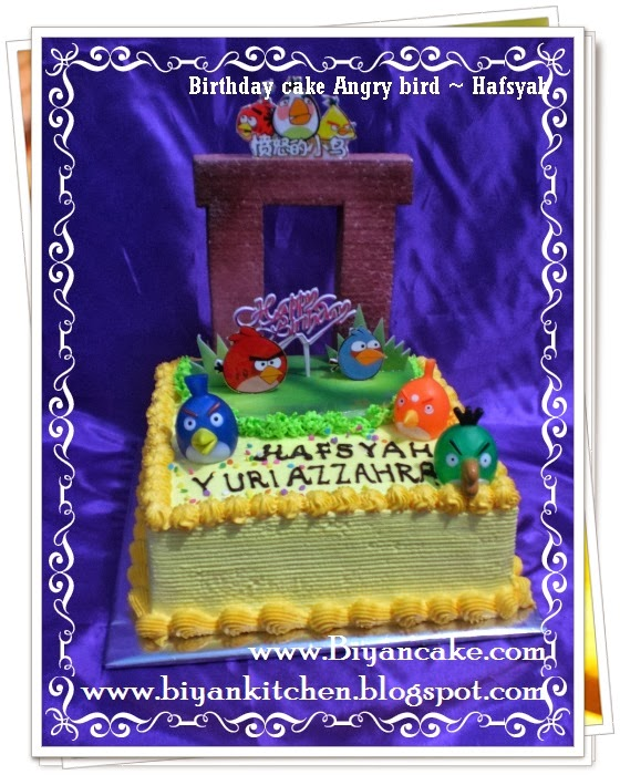 Kue tart Angry Bird ~ Hafsyah
