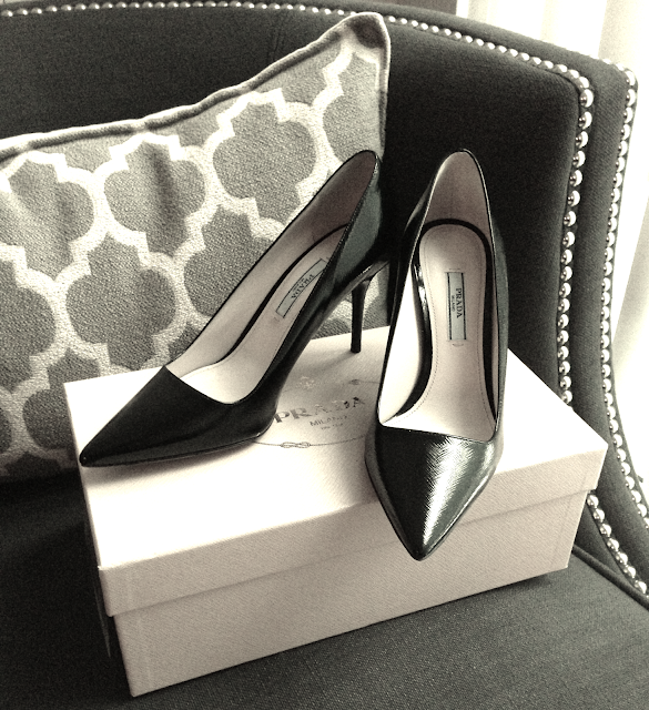 Prada pointy pumps, Prada, holt renfrew boxing day
