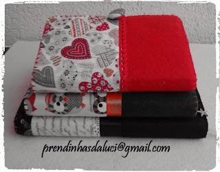 agendas em feltro e tecido
