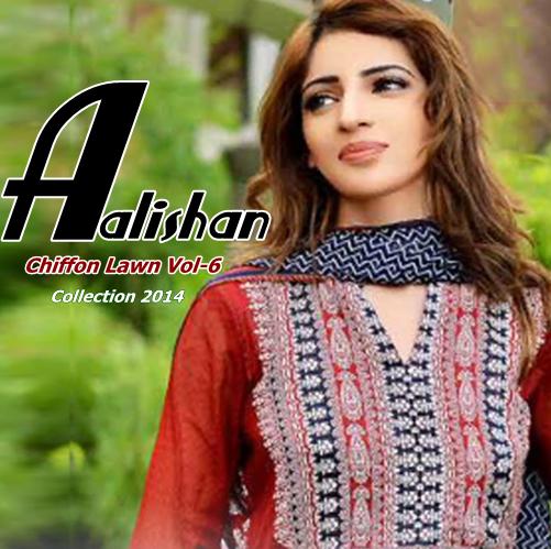 Aalishan Chiffon Lawn Vol-6
