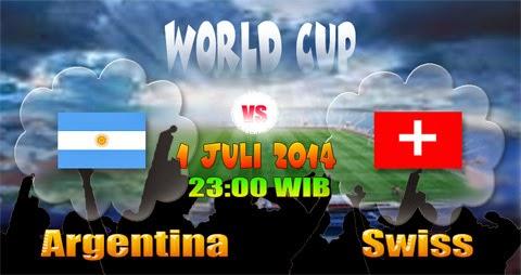 Prediksi Skor (Line-Up) Argentina vs Swiss 16 Besar Piala Dunia (Selasa, 1 Juli 2014)