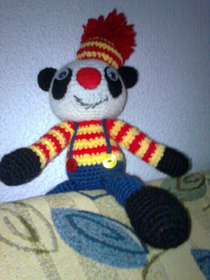 amigurumi, ganchillo, crochet, panda, oso, reto, cal