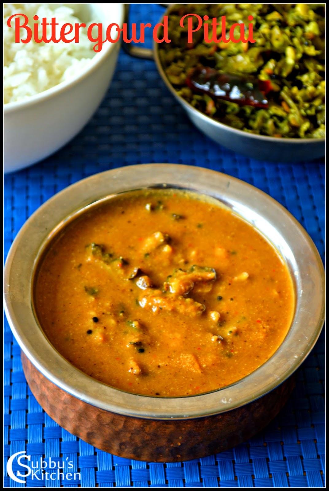 Pakarkaai Pitlai (Bitter gourd Pitlai)