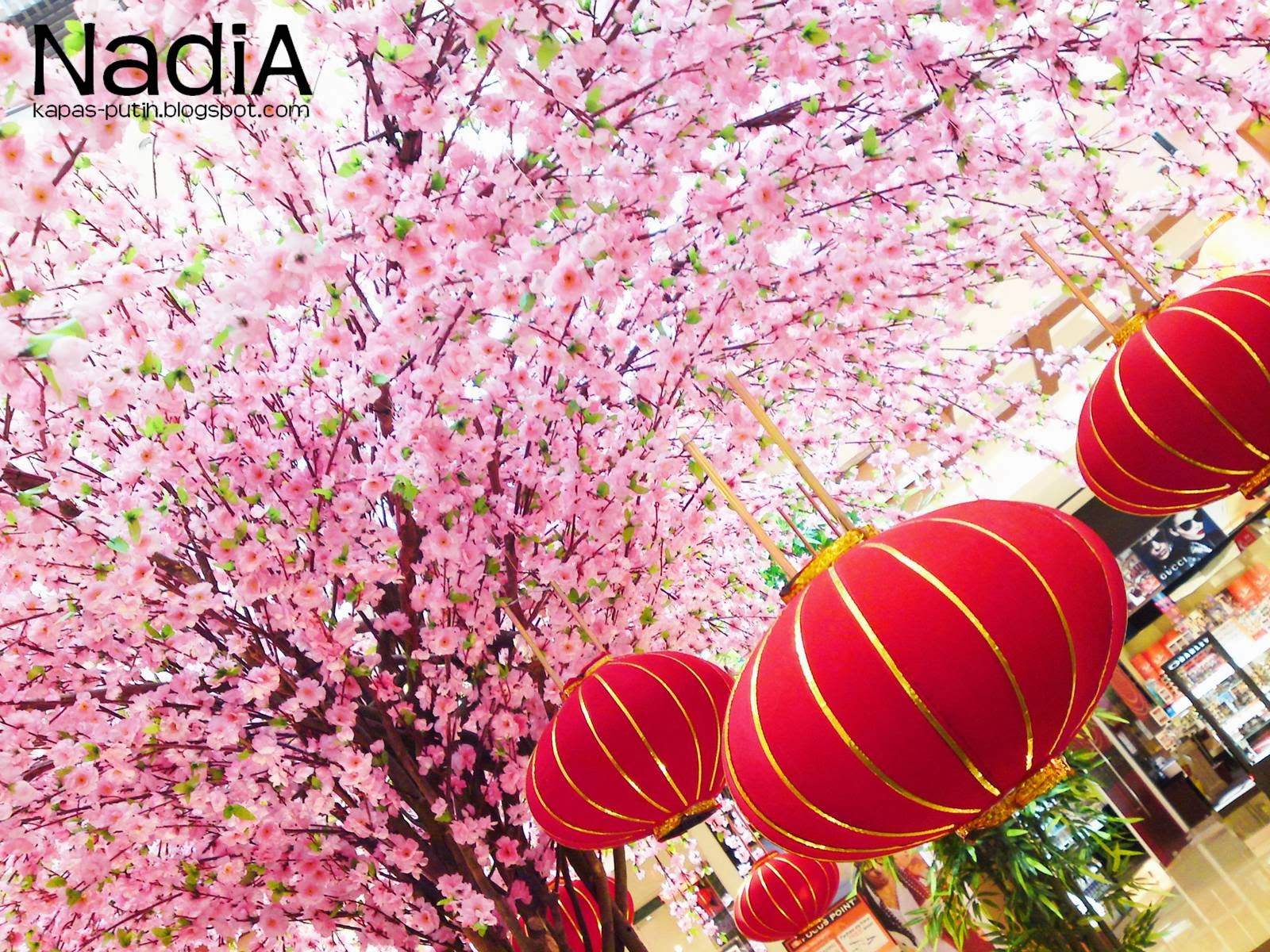 Chinese new year sakura tree