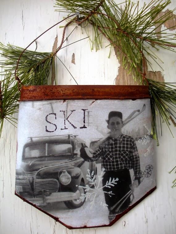 Narciarskie inspiracje DIY - niesamowite użycie nart! dekoracja z nart
