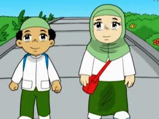 Gambar Kartun Anak Sholeh dan Sholeha Gratis