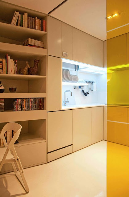 design solutions for small spaces, small space design, studio loft, loft design, loft bed, decorating small spaces, tiny spaces, storage solutions