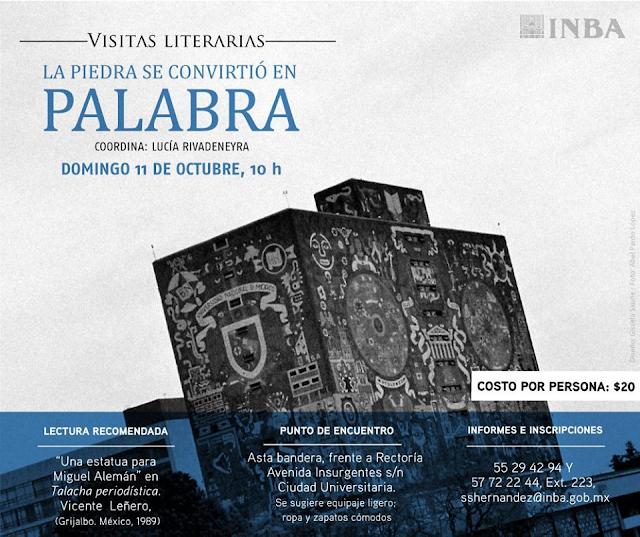Visita literaria recorrerá lugares de Ciudad Universitaria inmortalizados por escritores