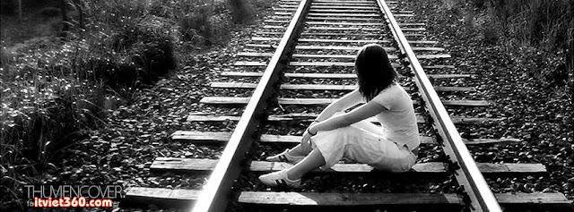 Ngồi trên đường ray xe lửa, Ảnh bìa Facebook Girl xinh đẹp- Cover FB timeline