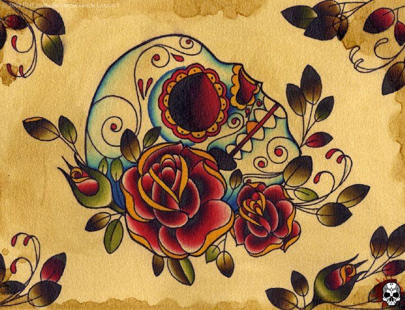 tattuart 39 s tattoo desenho de caveira para tatuagem. Black Bedroom Furniture Sets. Home Design Ideas