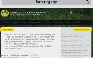 Laman Web Rasmi FAM Malaysia Digodam Vietnam