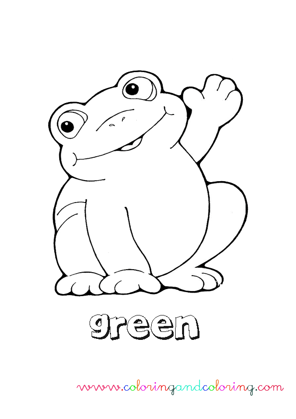 Green coloring pages print