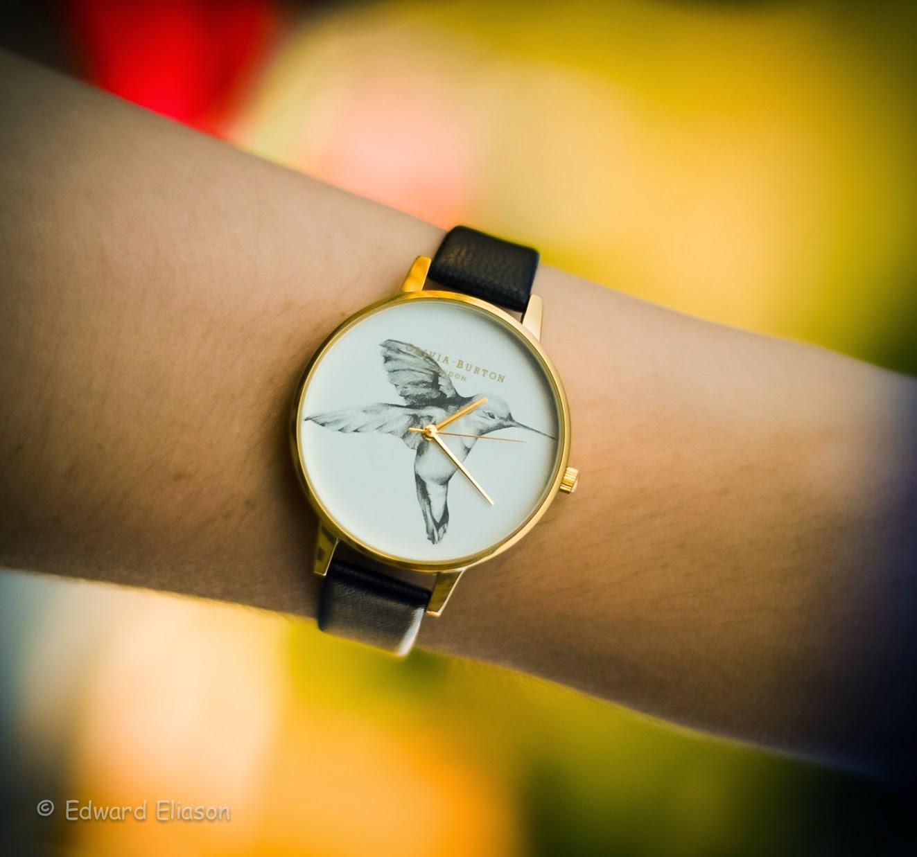 olivia burton watch, hummingbird watch, mod cloth watch, photography, expensive watches,