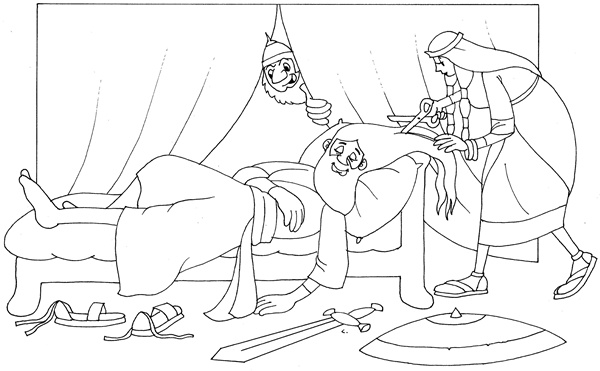Samson and delilah coloring page for Samson and delilah coloring pages