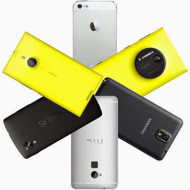 Several test Smartphone Cameras
