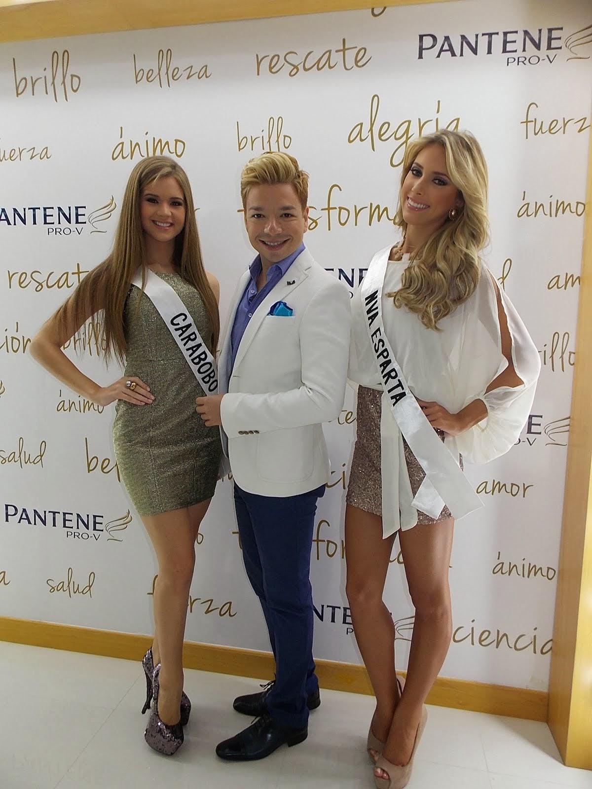 ANDRES ARAGON con Pantene y el Miss Venezuela
