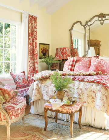 french country decor for kid bedroom in the red design