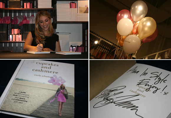 Cupcakes and Cashmere book signing at South Moon Under at Mosaic District